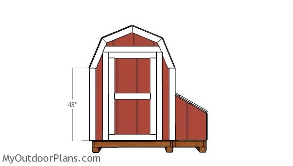 7 ft Tall Barn Chicken Coop Door Plans