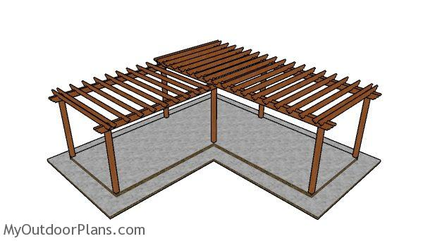 Do It Yourself Home Design: L-shaped Pergola Plans