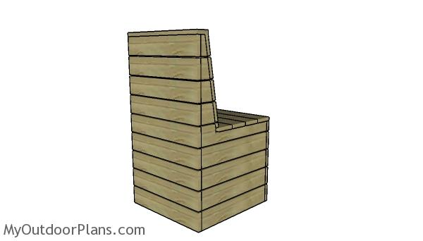 Modern Outdoor Chair Plans - Back view