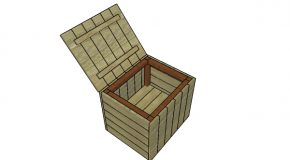 Modern Outdoor Side Table with Storage Plans