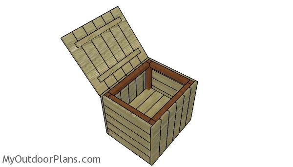 Modern Outdoor End Table with Storage Plans