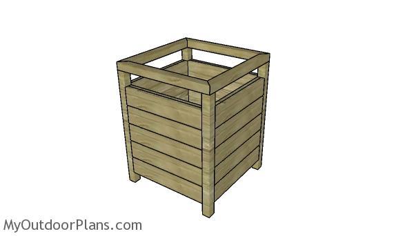 Modern Square Planter Box Plans MOPModern Square Planter Box Plans MOP