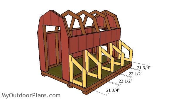 Nesting boxes frames