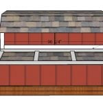 7 ft Tall Barn Chicken Coop Nesting Boxes Plans