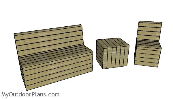 Outdoor modern set plans