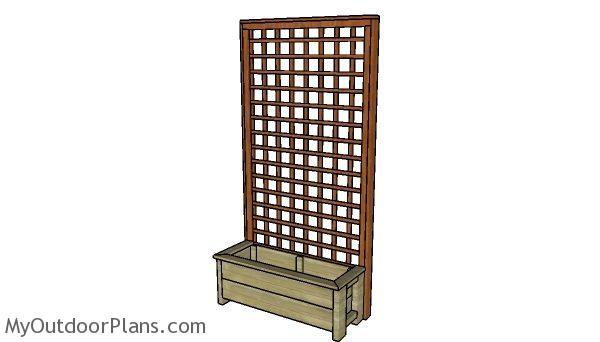 planter box  trellis plans myoutdoorplans  woodworking plans  projects diy