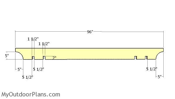 Small pergola shading elements