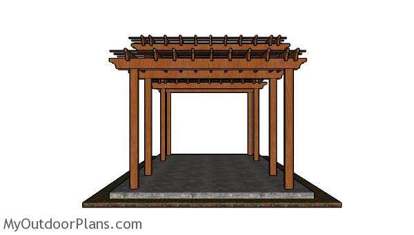 Tiered Pergola Plans - side view