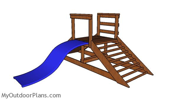 Wood Children Playset with Slide Plans