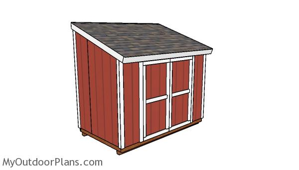 6x10 Lean to Shed Plans