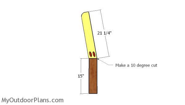 Assembling the back legs