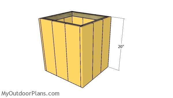 Assembling the planter box