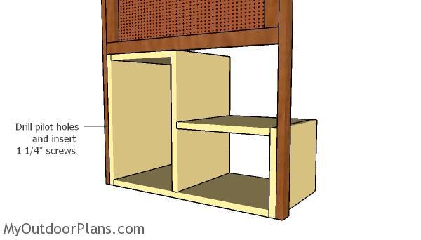 Attaching the storage unit
