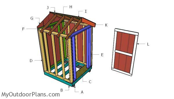 5x5 Shed Gable Roof Plans Myoutdoorplans Free Woodworking