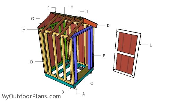 5x5 Shed Gable Roof Plans
