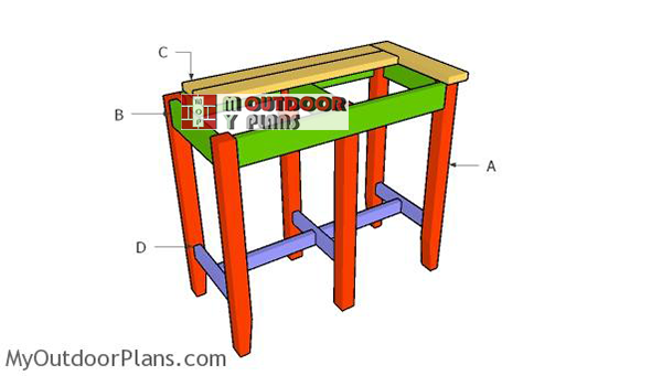 Building-a-bar-stool-bench