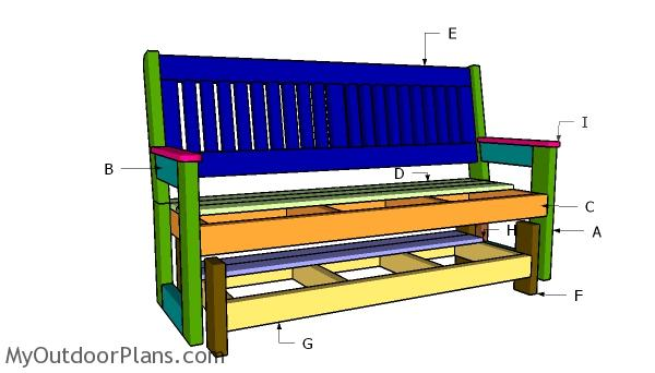 Building a glider bench
