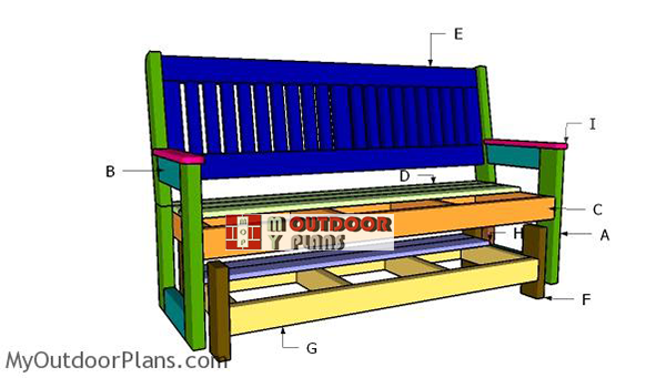Building-a-glider-bench