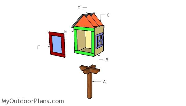 Little Free Library House Door Plans