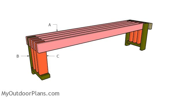 Brilliant Simple 2X4 Bench Plans Myoutdoorplans Free Woodworking Beatyapartments Chair Design Images Beatyapartmentscom