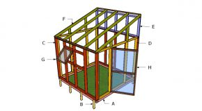 8×8 Lean to Greenhouse Roof Plans