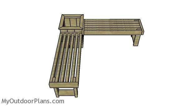 Corner Bench with Planter Box Plans | MyOutdoorPlans ...