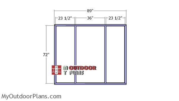Front-and-back-wall-frame