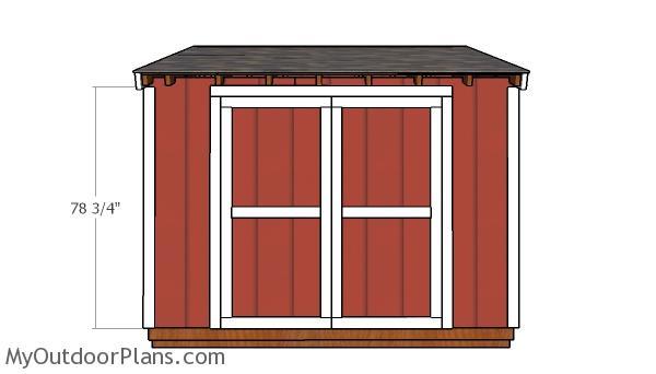 6x10 Shed Door Plans