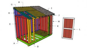 6×10 Lean to Shed Roof Plans