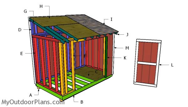 6x14 Lean to Shed Roof Plans