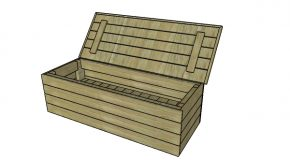 Modern Outdoor Storage Bench Plans