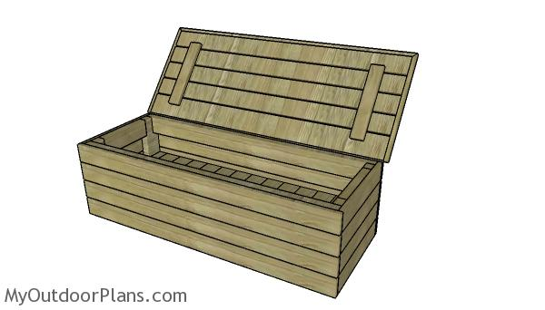 Modern Outdoor Storage Bench Plans