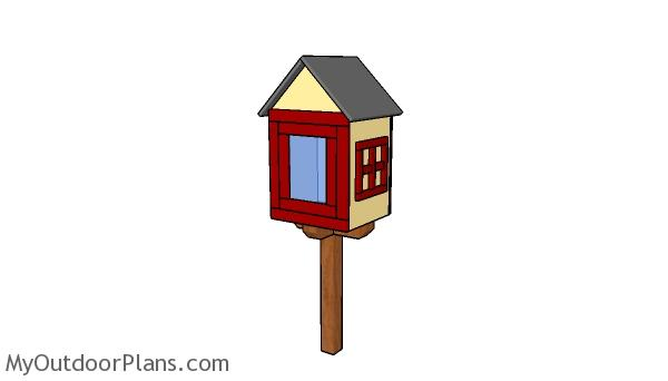Little free library house plans