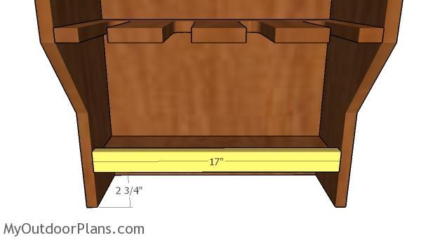 Lower shelf trim