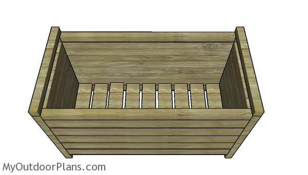 Modern Rectangular Planter Box Plans - Top view