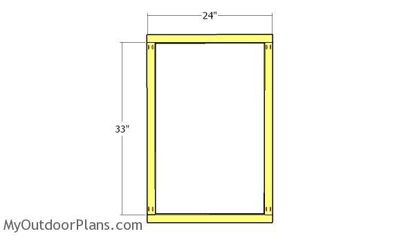 Peg board frame