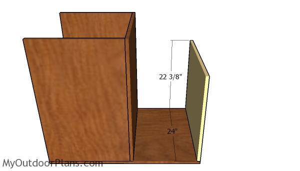 Right storage unit wall