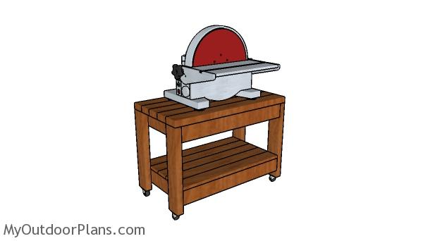 Rolling benchtop tool stand plans