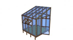 8×8 Lean to Greenhouse Plans