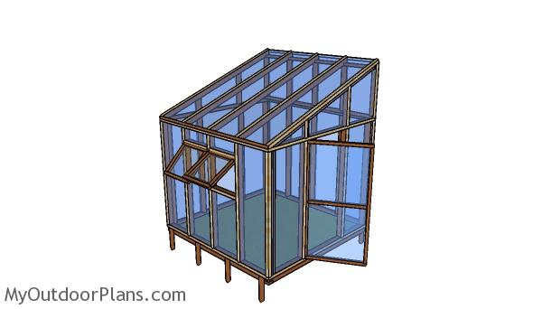 Small attached greenhouse plans MOP