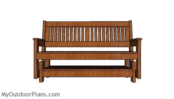 Wood Glider Bench Plans