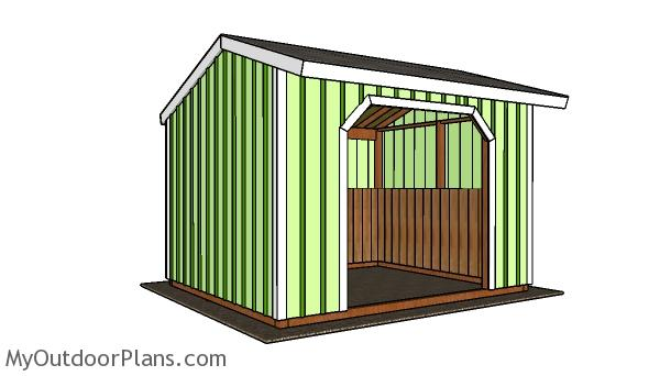 10×12 Run in Shed Plans