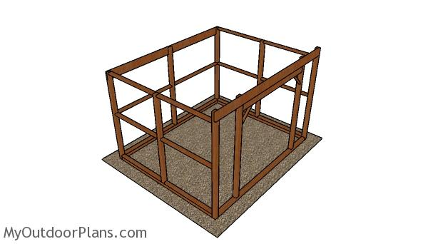 10x12 run in shed frame