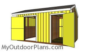 10x16 Horse barn with tack room - Free plans