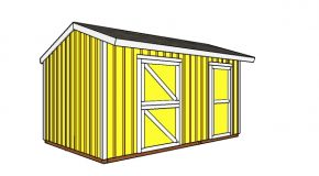 10×16 Horse Barn with Tack Room Plans