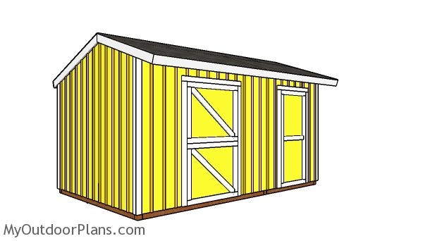 10x16 Horse Barn with Tack Room Plans