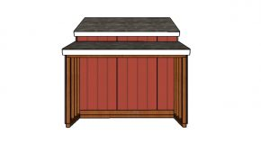 10×18 Raised Center Aisle Shed Side Storage Plans