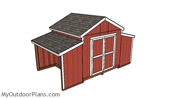 10x18 Center Aisle Shed Plans