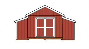 10×18 Raised Center Aisle Barn Shed Door Plans