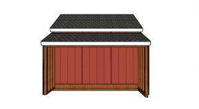 12×20 Raised Center Aisle Shed Side Storage Plans